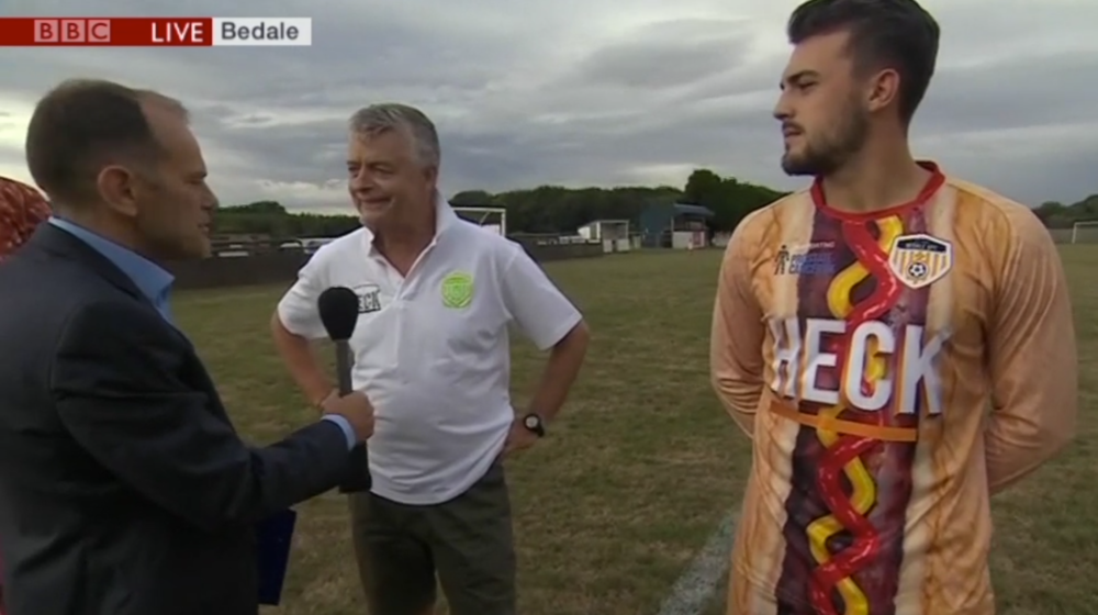 Heck Sausages 2018 Bedale AFC Kit - as seen on BBC Look North
