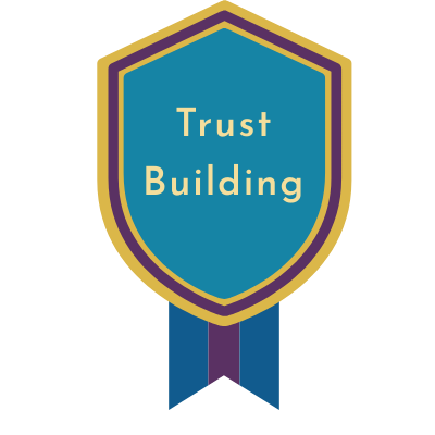 Recommended Award Message:  Congratulations! You have earned the Badge of Trust Building. You have turned in over 80% of your assignments within a week of the standard pacing guidelines.