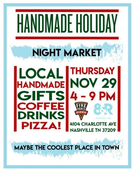 Local Holiday Market Artisan Vendor Event Coffee