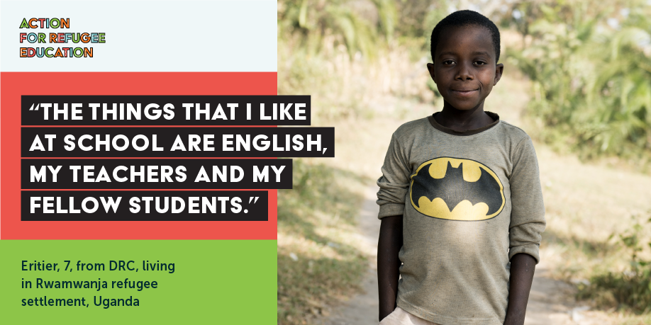 TWEET THIS   Just like Eritier ALL refugee children deserve a chance to go to a good school! At #UNGA this year, govts, private sector, donors & charity sector are coming together to deliver on their commitments to achieve #SDG4. Here's how> https://www.actionforrefugeeeducation.net/ #RefugeeEducation