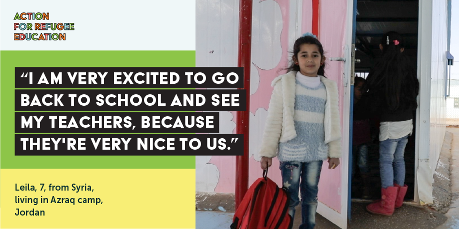 TWEET THIS   Leila is able to access school, but 4 million refugee children don't have this chance. We must act at #UNGA2018 to change this. See more here > https://www.actionforrefugeeeducation.net/ #RefugeeEducation