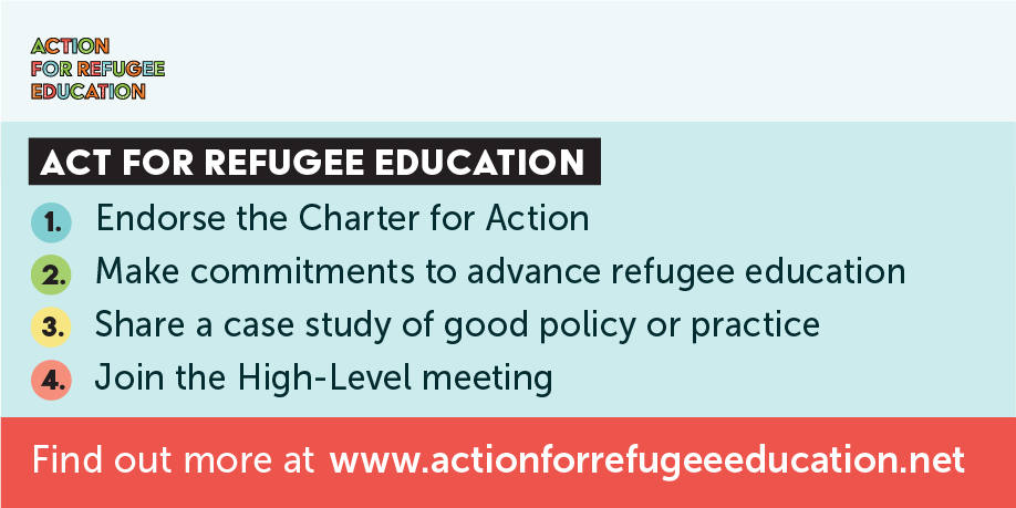 TWEET THIS   It's time to deliver our commitments to educate the world's refugee children. Four practical ways governments and organisations can do exactly that in advance of # UNGA2018  and the HLM on # RefugeeEducation . It's time to act. www.actionforrefugeeeducation.net