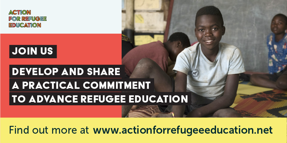 TWEET THIS   Organisations from around the world are invited to share their commitments to bringing practical changes for improving the quality, inclusion, and investment in refugee education - add yours now. It's time to act for #RefugeeEducation #UNGA2018