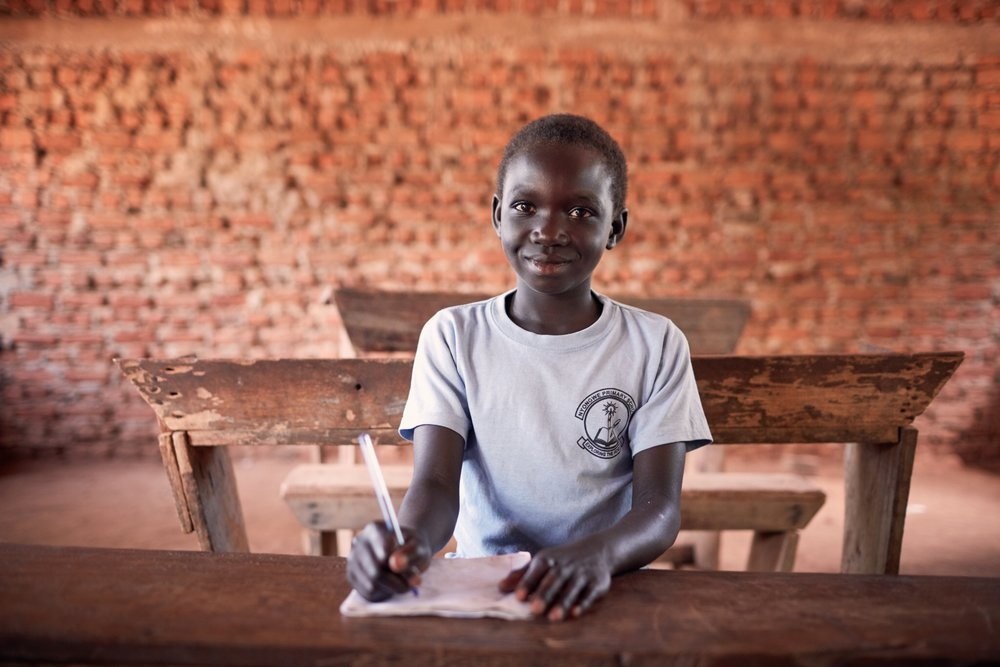 Venetia*, 9, is an unaccompanied child refugee from South Sudan. She had not been to school since 2016 but has been able to enrol in a government school in Imvepi settlement in Uganda thanks to their progressive policies.    Uganda is one of the top refugee hosting countries worldwide, and its progressive policies and approach to refugees, despite increasing refugee numbers and stretched capacity, stands in stark contrast with that of many of the world's richest nations    © Save the Children/Juozas Cernius
