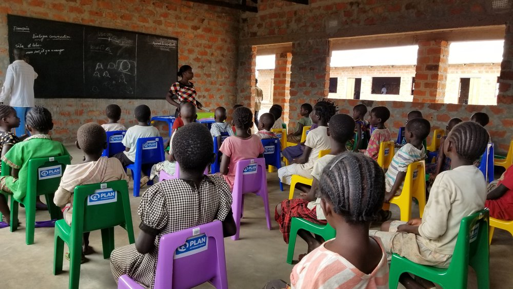Children learn in an ECCD centre in Zambia, Southern Africa. The number of refugees in Zambia – now about 60,000 – is growing daily due to internal conflict in the neighboring Democratic Republic of Congo   © Plan International