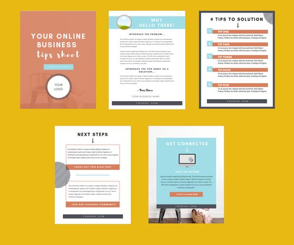 Tips sheet template