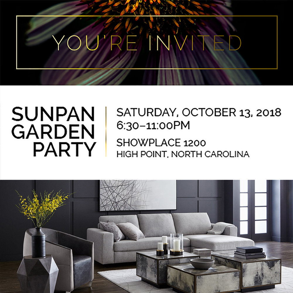 SUNPAN GARDEN PARTY     Time: Saturday, Oct., 13th, 6:30 - 11PM Location: Showplace 1200
