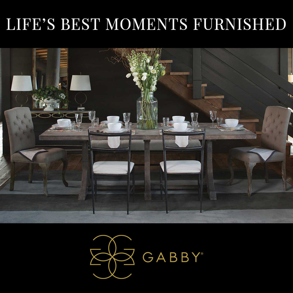 "GABBY ""LIFE'S BEST MOMENTS FURNISHED""     Time: Saturday, Oct., 13th, 5PM Location: IHFC - W168"