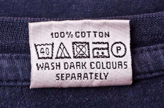Wash dark colors separately. Photo credit: General Label