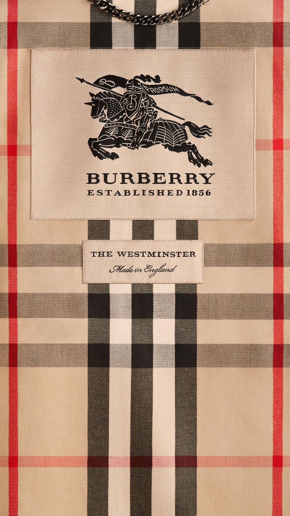 Burberry's Iconic Vintage Checker Inner Layer