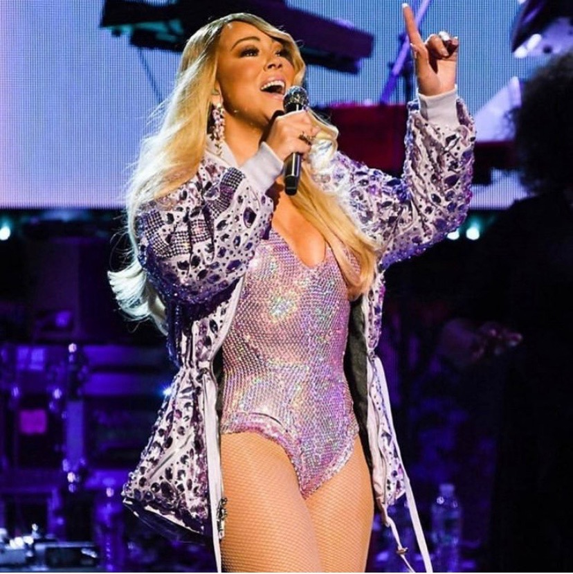 MARIAH CAREY - Dry cleaning Mariah Carey's Michael Ngo encrusted purple parka for her Caution World Tour