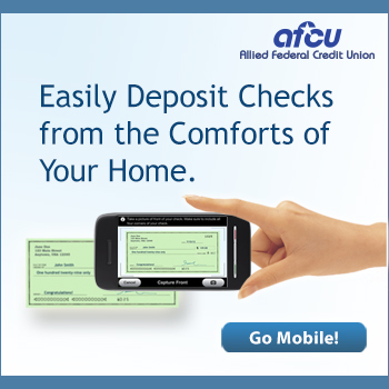 Easily deposit checks from the comforts of your home.