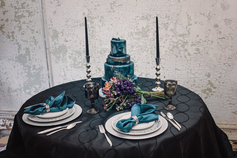 dark blue wedding cake, moon child, prison shoot