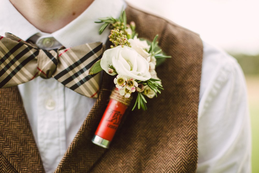 SHOTGUN SHELL BOUTONNIERE - CINCINNATI WEDDING - RUSTIC WEDDING
