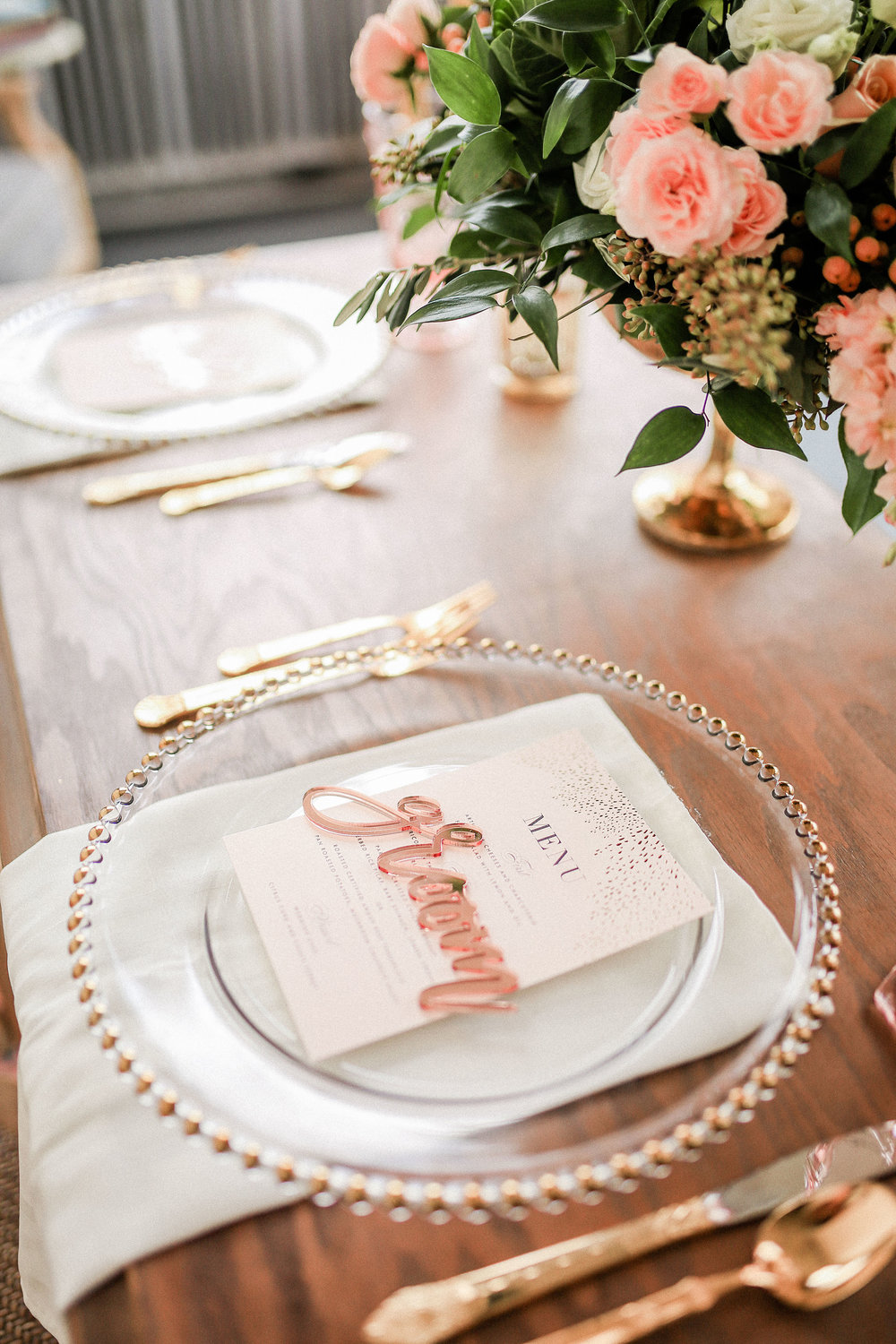 blush and white wedding - sweetheart table - wedding decor - wedding inspiration - dayton wedding planning - columbus wedding design