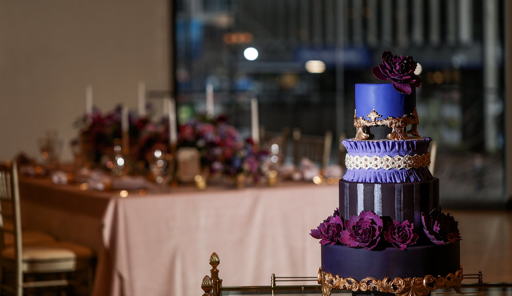 Purple Wedding Cake - Columbus Weddings - Cincy Bride - Dayton Wedding Planners - Dayton Bride
