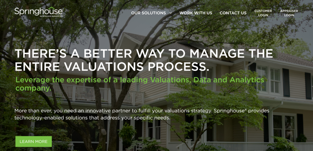 SpringhouseAMC.com - This site represents a business unit of Altisource, a financial services company. From requirements to development, the site launched with a 25% shorter timeline than similar projects.