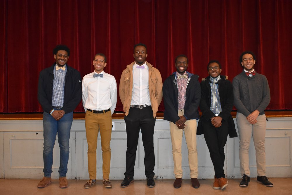 From (2nd position) Left: Brothers Quentin Thomas, KJ Boyce, Nkanyiso Nzimande, Clarence Mokaya, Dybe Fredy and Jacob Stanton.