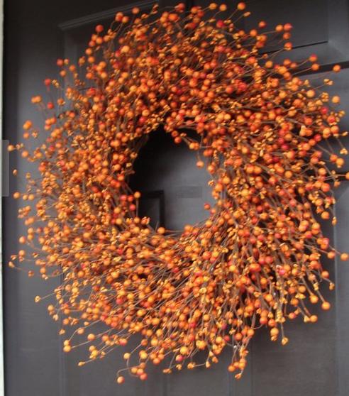 Pumpkin Pie Wreath   Handmade by ElegantWreath on Etsy!  Pumpkin Pie Fall Wreath, Thanksgiving Wreath Berry Wreath, Thanksgiving Decor XL 18 - 24 INCH Sizes Available. $80+