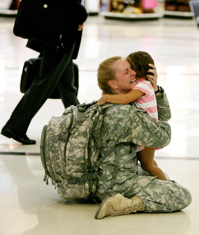 Terri Gurrola is reunited with her daughter after serving in Iraq for 7 months |  Louie Favorite