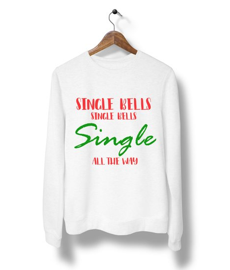Single Bells Ugly Christmas sweater, Ugly Christmas sweater, Funny Christmas party shirt, Christmas gift,Women ugly Christmas Sweater M63 | $16.99+