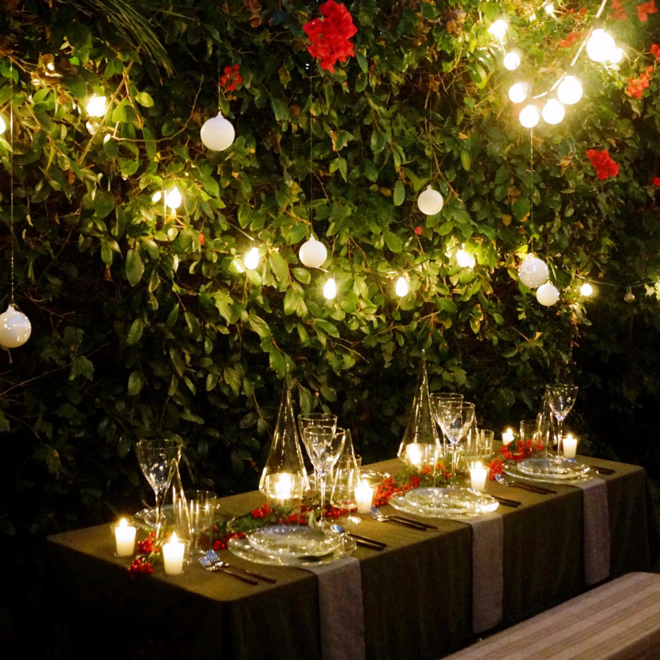 Holiday Tablescape Inspiration via CB2
