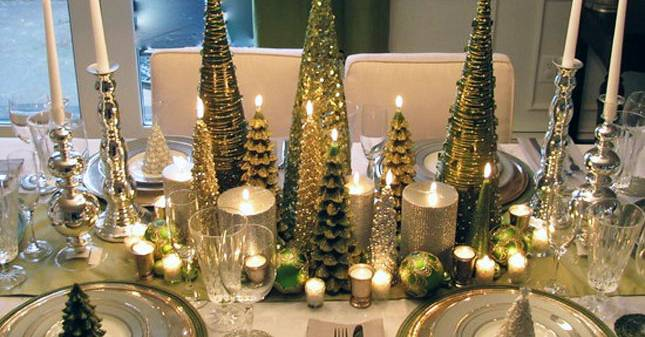 Whimsical holiday tablescape via laveregere