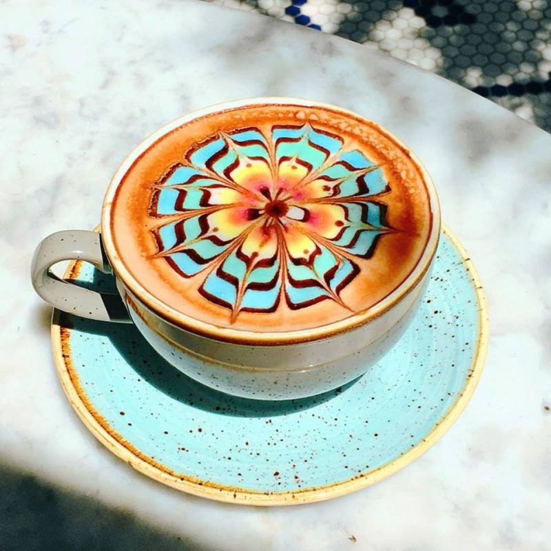 Color Burst Latte Art by The Butcher, The Baker, The Cappuccino Maker