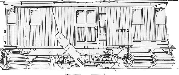 The drawing above shows a similar sweeper from the Public Service as drawn by Walter Olevsky for Model Railroad Craftsman© as it appeared in the August 1966 issue.