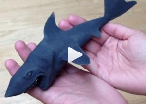 Shark Week, 3D Printed Shark Attacks Dog
