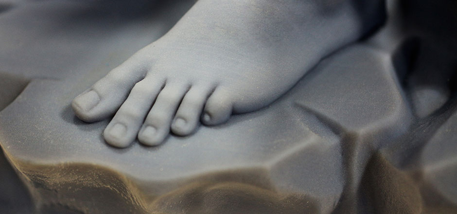 Michelangelo-Bacchus-Foot-3DPrinted