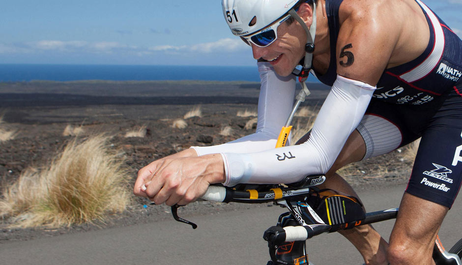 Ironman Triathlete Any Potts and the Nathan AP Pro Sports Bottle