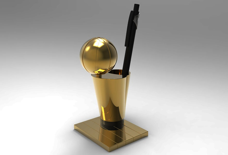 NBA O'Brien Trophy 3D Printing