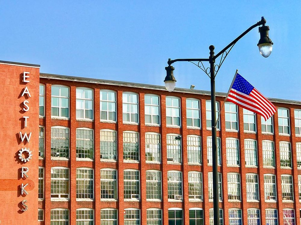 Eastworks view with flag.jpg