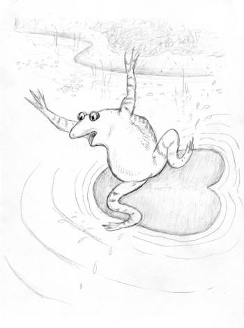 On Duck Pond 01 jumping frog.jpg