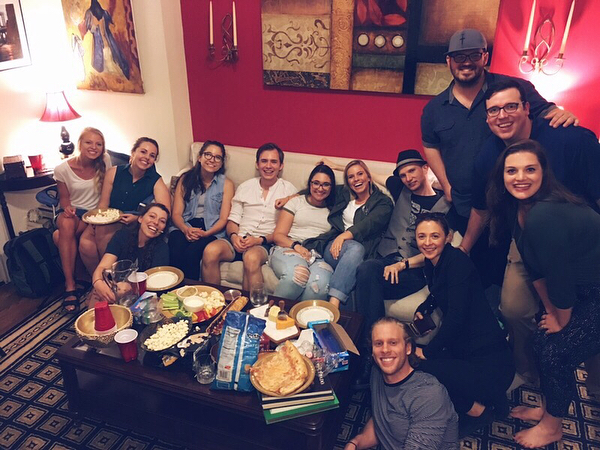 What a group!!! Thank you to everyone who braved last night's rain and came to Bible study! We sure do love hangin' and prayin' with you all 😊