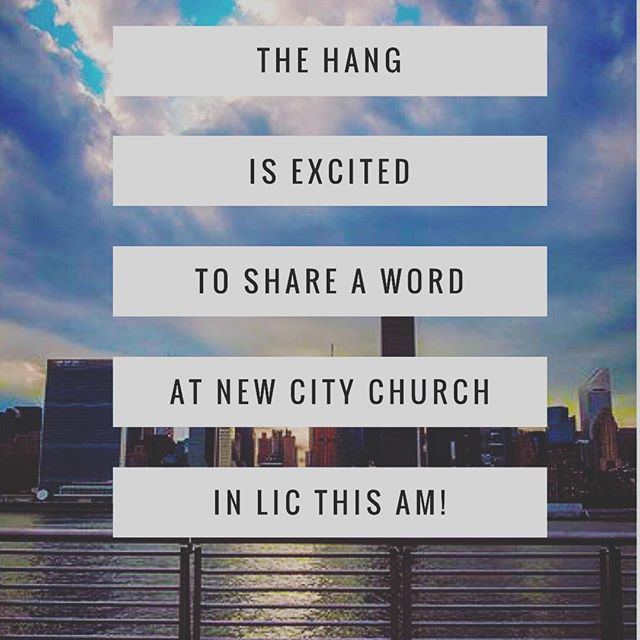 Sharing about the connection between faith and the arts at NEW CITY CHURCH!  #thehangnyc #newcitychurch