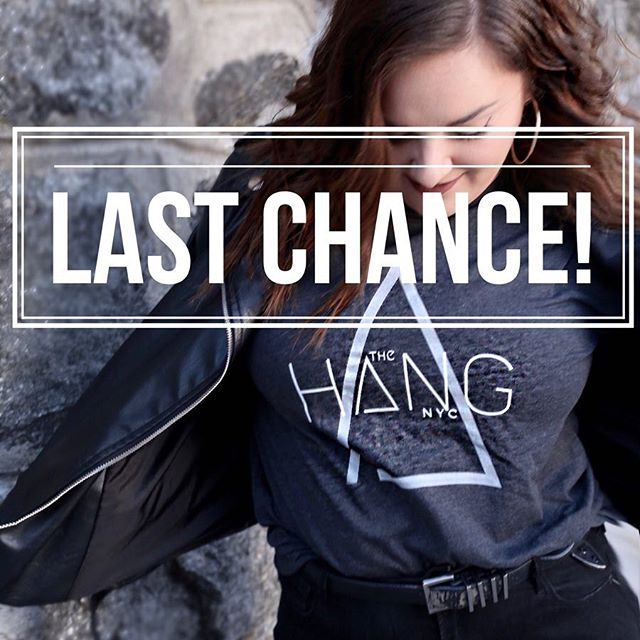 Last call for t-shirts! Head on over to the link in our bio if you want to rep The Hang all over town. We might take your pic and feature it here on Insta if we happen to catch you in one 😏