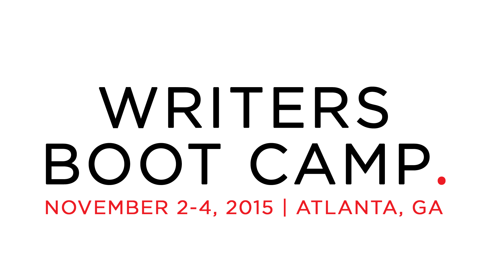 Join Jonathan at his next Writer's Boot Camp. Sign-up NOW!