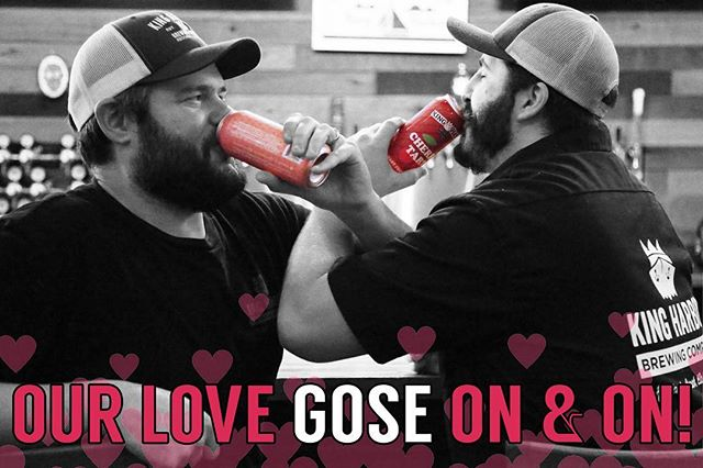 Happy Valentine's Day!! ❤️🏹😍 Stop in today for our Valentine's Day Special:  CHERRY TART GOSE 🍒 Buy ONE, Get ONE 50% OFF [Pints, 4pks, Growlers]  It's the perfect way to stay out of the rain and keep warm with that special someone, and by someone we mean beer! 😉🍻 Take a look at our other instagram pages to see our creative Valentine's! 🎀 Hope you love them! . . . #valentinesday #love #hearts #beer #roses #candy #bemine #beermine #loveisaleweneed #ourlovegoseonandon #wefirkinloveyou #kingharborbrewing #kingharborbrew #kingharborvillage #kingharborwaterfront #craftbeer #redondobeach #hermosabeach #manhattanbeach #torrance #drinklocal #southbay #cheers #thirstythursday #beermodels : @kingharborjaymes & @nerdybrewer