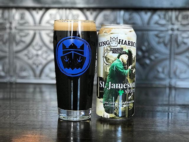 AVAILABLE NOW!🚨🍻 _________________________ St. Jameson Stout 👨🦰☘️ 6% ABV Dry Irish Stout with notes of vanilla, new oak, and dark roast.  _________________________  Find this tasty stout starting TODAY available at ALL Tasting Rooms on draft and in 4pks to-go! . . . #StJameson #Irish #Stout #IrishStout #leprechaun #luckoftheirish #newbeer #newrelease #beerrelease #saturday #saturyay #kingharborbrewing #kingharborbrew #kingharborvillage #kingharborwaterfront #craftbeer #redondobeach #hermosabeach #manhattanbeach #torrance #drinklocal #southbay #cheers #darkbeer