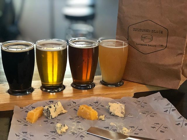 Join us this Sunday, April 7th from 3-5pm for a Cheese and Beer Pairing. Our friends at @cultured_slice are stopping by with 4-6 delicious cheese samples to pair with our most popular beers. Ticket link in bio or available for purchase in our tasting rooms - space is limited. - - - #kingharborbrewing #culturedslice #beerandcheese #cheeseandbeer #redondobeach #hermosabeach #drinklocal #eatlocal #southbay #foodpairing #tikihutipa #guavalava #cevezahermosa
