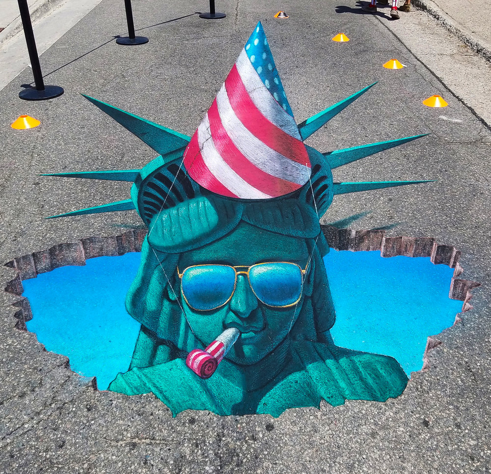 Breck statue of liberty chalk art.jpg