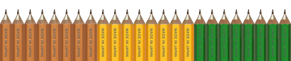 Camel Half Size Mechanical Pencils (Natural Color, Yellow, Green)