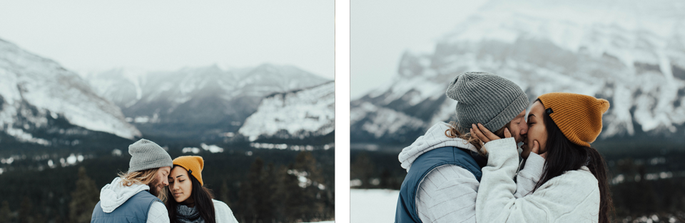 Banff Engagement Photographer - Winter Mountain Adventure Engagement Session - Michelle Larmand Photography-007