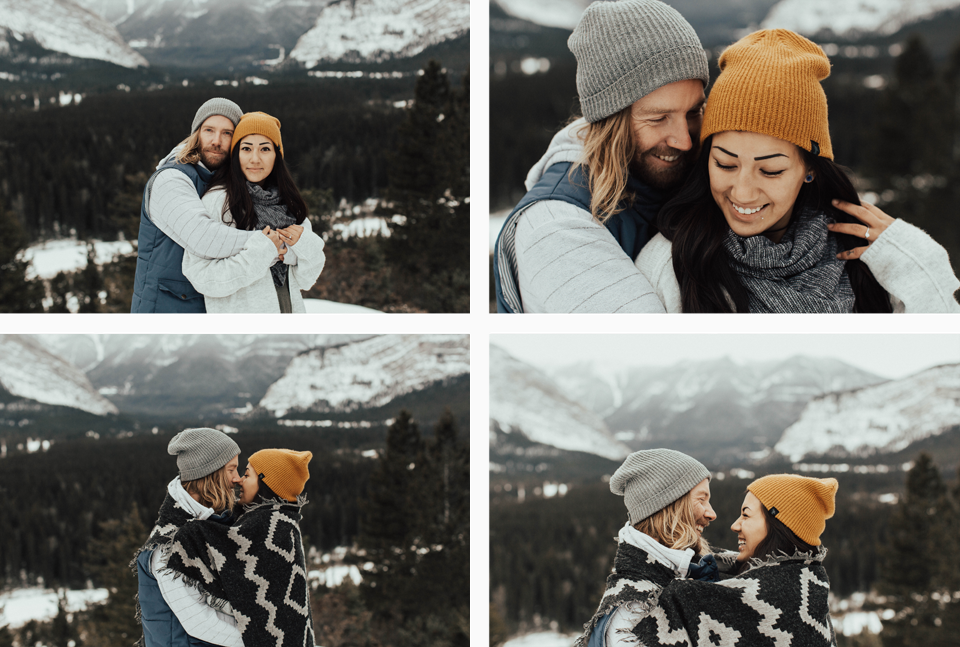 Banff Engagement Photographer - Winter Mountain Adventure Engagement Session - Michelle Larmand Photography-018