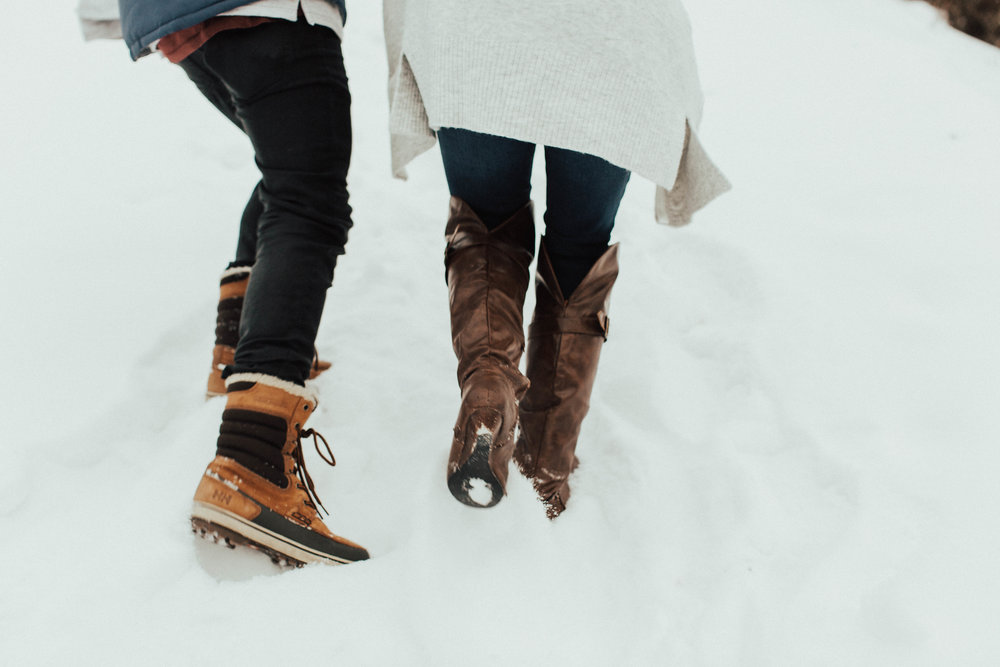 Banff Engagement Photographer - Winter Mountain Adventure Engagement Session - Michelle Larmand Photography-021