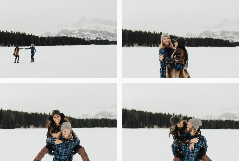 Banff Engagement Photographer - Winter Mountain Adventure Engagement Session - Michelle Larmand Photography-029