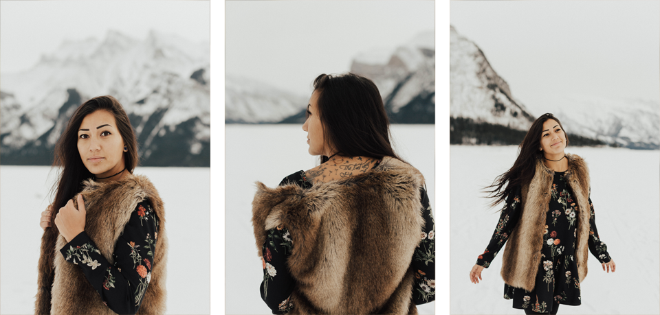 Banff Engagement Photographer - Winter Mountain Adventure Engagement Session - Michelle Larmand Photography-049