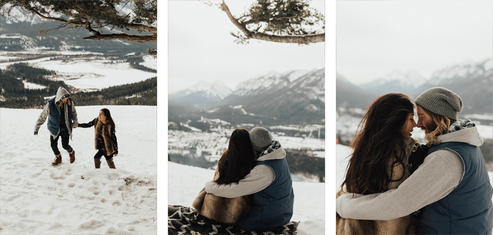 Banff Engagement Photographer - Winter Mountain Adventure Engagement Session - Michelle Larmand Photography-055